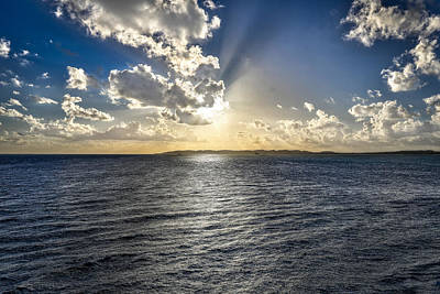 Photograph - Morning Sun Punching Through The Clouds In St. Croix by Craig Bowman