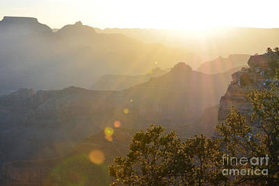 Arizona Photograph - Morning Sunrays Over Silhouetted Spires In Grand Canyon National Park by Shawn O'Brien