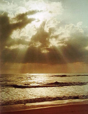 Photograph - Golden Beams On The Atlantic Ocean by Belinda Lee