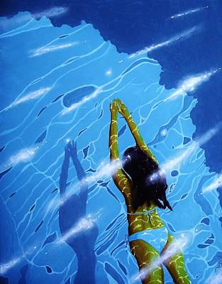 Painting - Morning Swim by Kyle  Brock