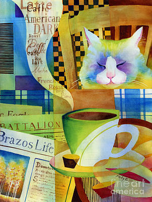 Cappuccino Painting - Morning Table by Hailey E Herrera