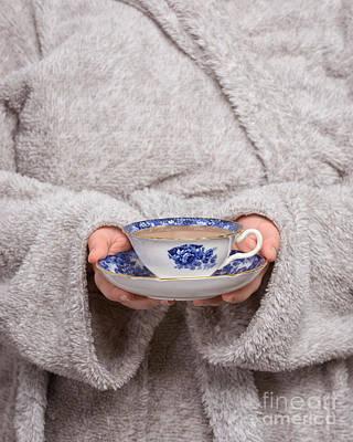 Bathrobe Photograph - Morning Tea by Amanda Elwell
