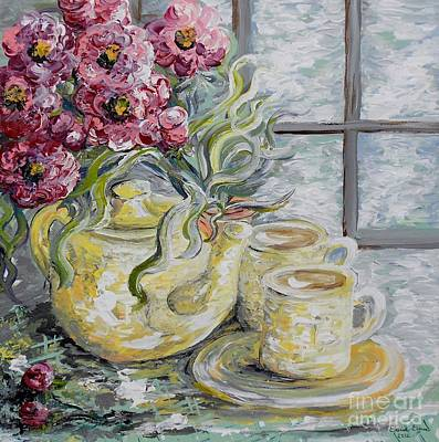 Online Art Gallery Painting - Morning Tea For Two by Eloise Schneider