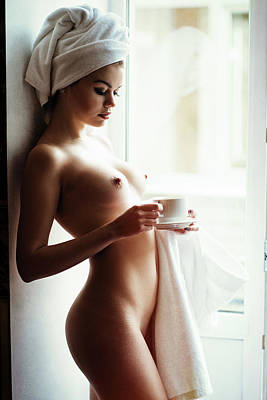 Shower Photograph - Morning Tea by Gene Oryx