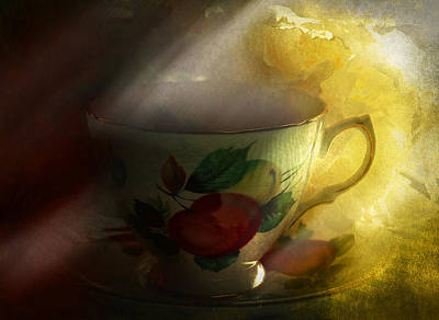 Outerspace Patenets - Morning tea with peony by Jeff Burgess