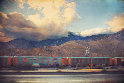 Digital Art - Morning Train by Laurie Search
