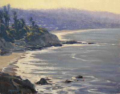 Laguna Beach Painting - Morning View Heisler Park by Joe Mancuso