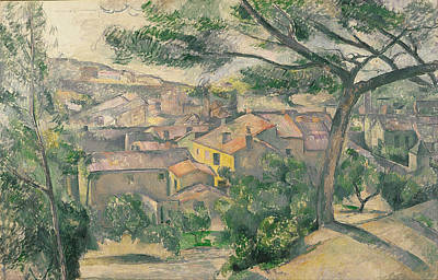 Estaque Painting - Morning View Of L Estaque Against The Sunlight by Paul Cezanne