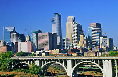 Minnesota Twins Photograph - Morning View Of Minneapolis, Mn Skyline by Panoramic Images