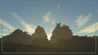Digital Art - Morning View Of The Misty Mountain Forest... by Tim Fillingim