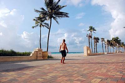 Photograph - Morning Walk Along The Hollywood Beach Boardwalk by Shawn Lyte