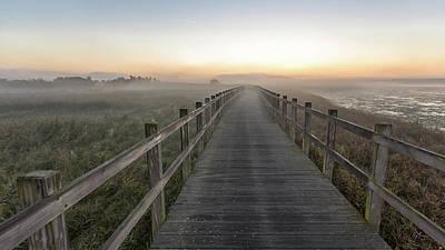 Boardwalk Wall Art - Photograph - Morning Walk. by Leif L??ndal