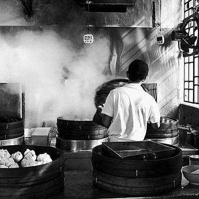 Steam Wall Art - Photograph - Morning Walk. Steaming Bao In A George by David  Hagerman
