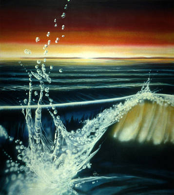 Painting - Morning Waves by Lynette Yencho