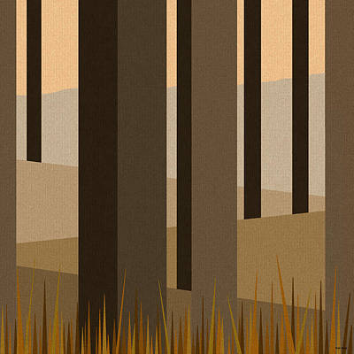 Digital Art - Morning Wood - Trees by Val Arie