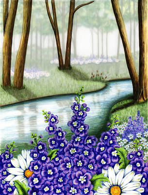 Painting - Mornings Mist by Lori Sutherland