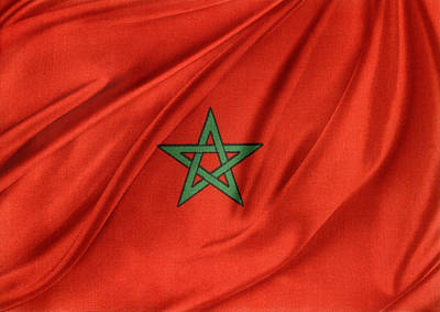 Moroccan Flag Art Print by Les Cunliffe