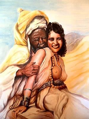 Painting - Moroccan Flirtation by Patricia Rachidi