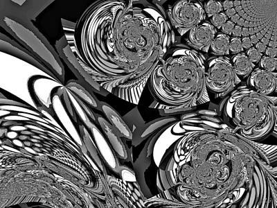 Bohemia Digital Art - Moroccan Lights - Black And White by Absinthe Art By Michelle LeAnn Scott