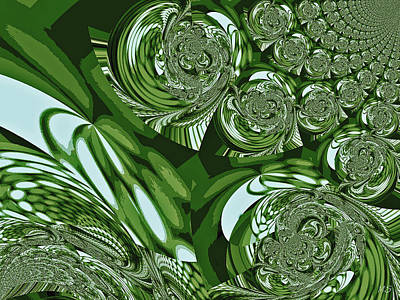 Bohemia Digital Art - Moroccan Lights - Green by Absinthe Art By Michelle LeAnn Scott