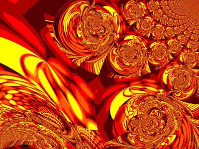 Bohemia Digital Art - Moroccan Lights - Orange by Absinthe Art By Michelle LeAnn Scott
