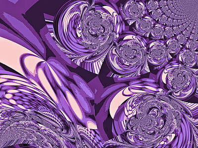 Purple Grapes Digital Art - Moroccan Lights - Purple by Absinthe Art By Michelle LeAnn Scott