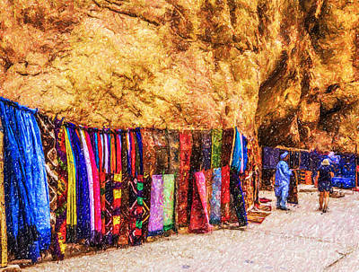 Digital Art - Moroccan Merchandise by Liz Leyden