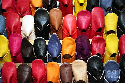 Moroccan Photograph - Moroccan Slippers by Sophie Vigneault