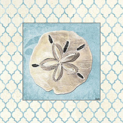 Beach Shell Sand Sea Ocean Painting - Moroccan Spa 2 by Debbie DeWitt