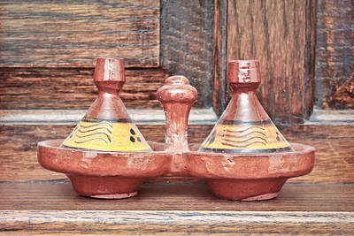 Glazed Pottery Photograph - Moroccan Tagine by Tom Gowanlock