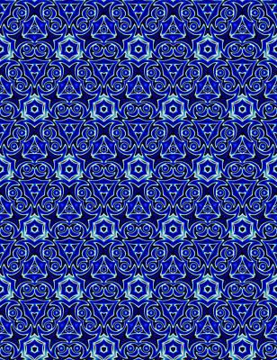 Moroccan Digital Art - Moroccan Textile Pattern 2 by Hakon Soreide