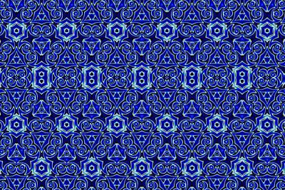 Moroccan Digital Art - Moroccan Textile Pattern by Hakon Soreide