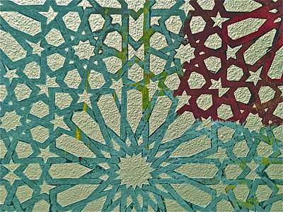 Moroccan Mixed Media - Moroccan Tile Design by Karim Baziou