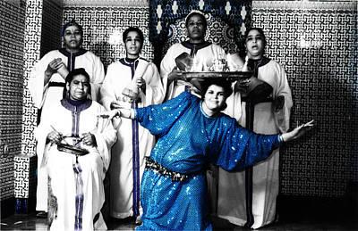 Sahara Mixed Media - Moroccan Women Dancer by Abdelkrim Kib