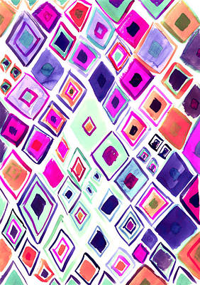 Abstract Digital Painting - Morocco by Amy Sia