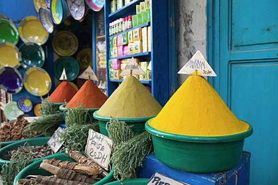 Food Stores Photograph - Morocco, Atlantic Coast, Essaouira by Walter Bibikow