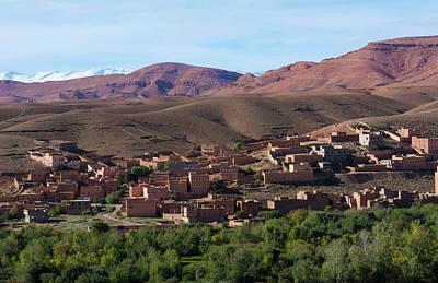 Old Village Photograph - Morocco Atlas Mountains Boulmane Danes by Bill Bachmann