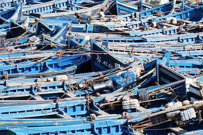 Essaouira Photograph - Morocco, Essaouira, Small Skiff Tied by Emily Wilson