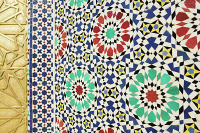 Mosaic Photograph - Morocco, Fes Fes, Jdid (royal Fes by Walter Bibikow