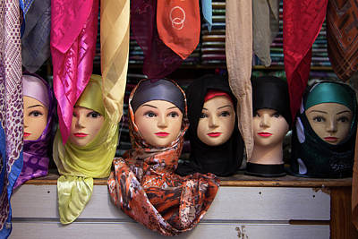 Fes Photograph - Morocco, Fes Moroccan Head Scarves by Kymri Wilt