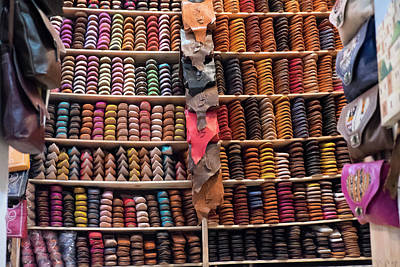 Fez Photograph - Morocco, Fez Tannery by Emily Wilson