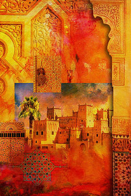 Rabat Painting - Morocco Heritage Poster 00 by Catf