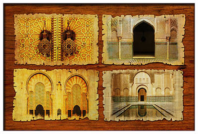 Rabat Painting - Morocco Heritage Poster 01 by Catf