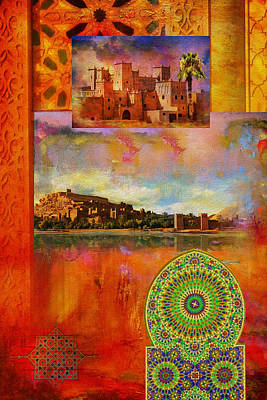 Rabat Painting - Morocco Heritage Poster by Catf