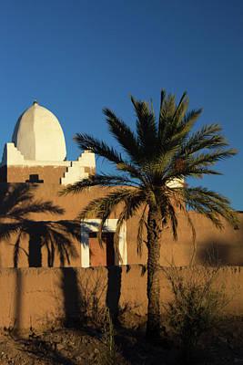 Desert Dome Photograph - Morocco, Skoura White Trim Kasbah by Kymri Wilt