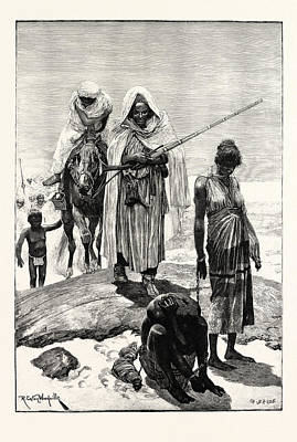 Slaves Drawing - Morocco Slave-traders Returning From Timbuctoo by Moroccan School