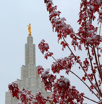 Temple Photograph - Moroni by David Andersen