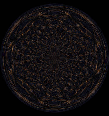 Morphed Art Globe 31 Art Print by Rhonda Barrett