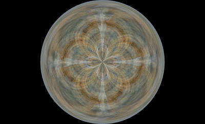 Morphed Art Globes 25 Art Print by Rhonda Barrett