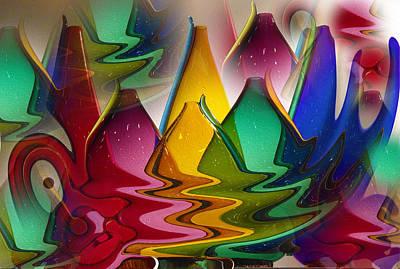 Morphed Glass Art Print by Jill Brooks